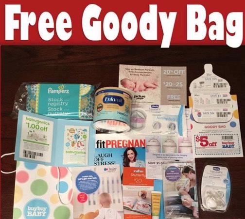 Free Baby Goody Bag Pacifier Body Cream Formula