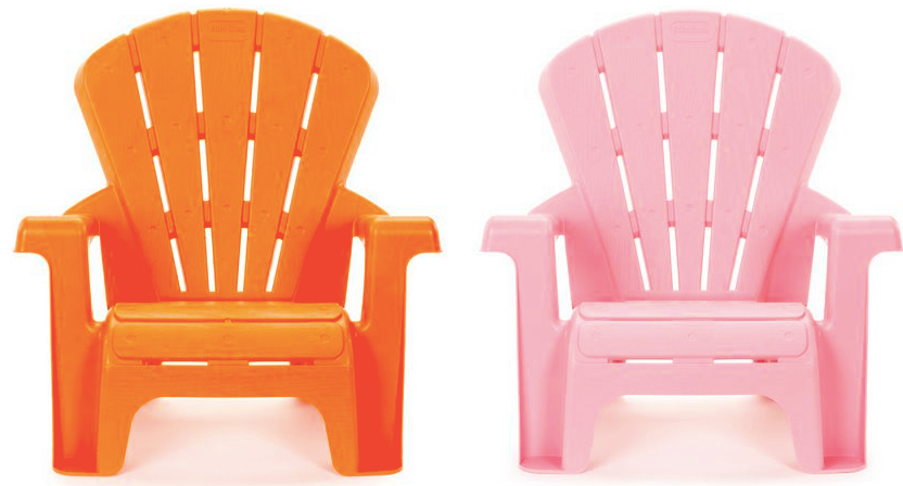 Little Tikes Garden Chairs in Orange or Pink ONLY $5.12 Shipped!