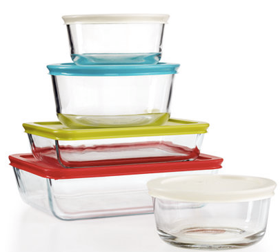 Pyrex 10-Piece Simply Store Set with Colored Lids Only $11.24 (Reg. $39.99)