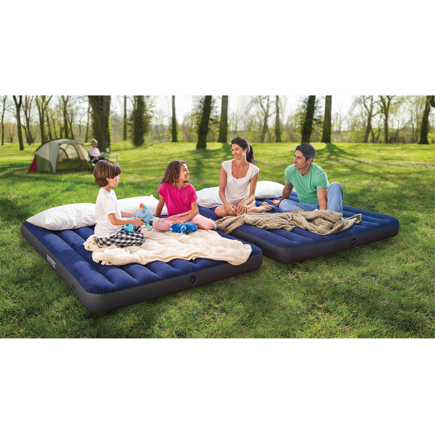 Intex Queen 2 In 1 Guest Airbed Comes With 2 Mattresses
