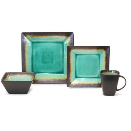 Hot Better Homes And Gardens Jade Crackle 16 Piece Dinnerware Set Only 5 Reg 50