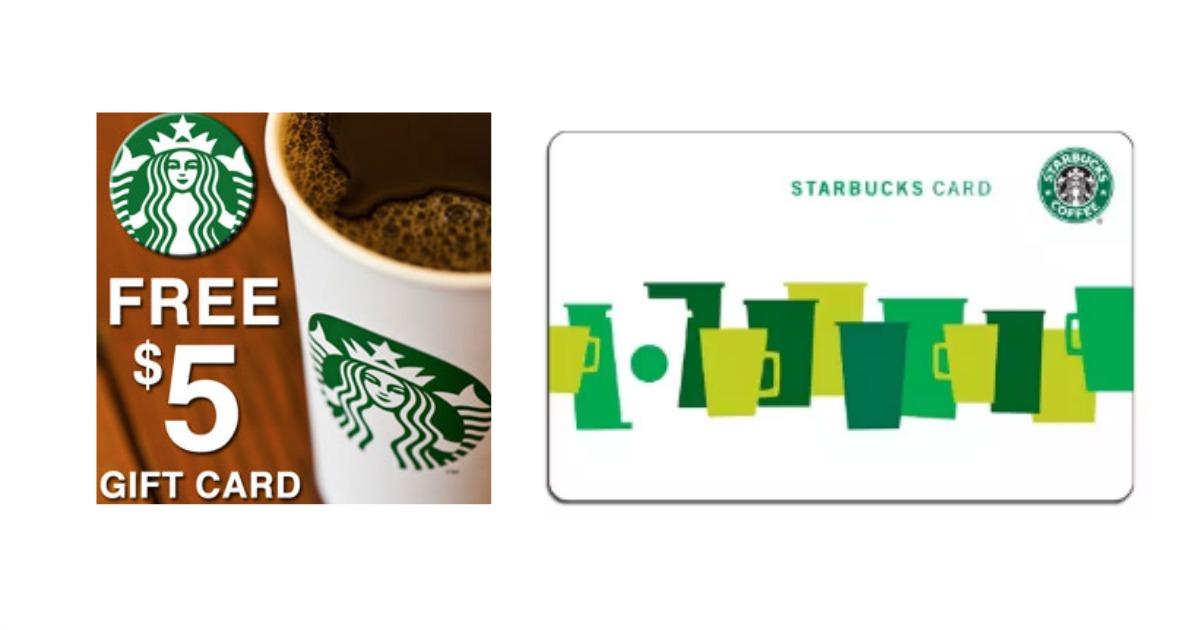 FREE $5 Starbucks Gift Card for EVERYONE!