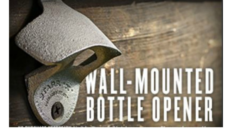 free wall mounted bottle opener free shipping. Black Bedroom Furniture Sets. Home Design Ideas