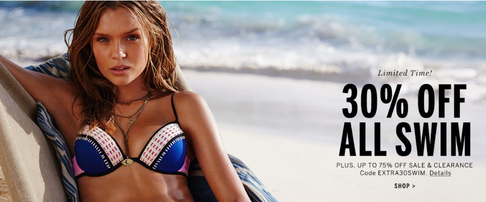 Victoria's Secret: Extra 30% Off Swimwear