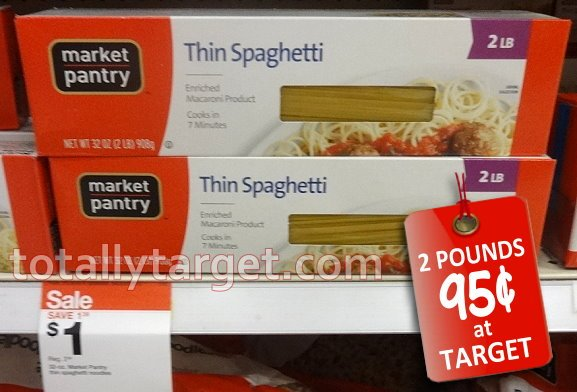 Target market pantry value size pasta only 0 95