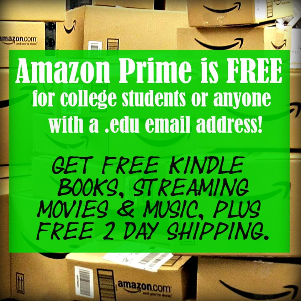 Free 6 months of amazon prime for college students