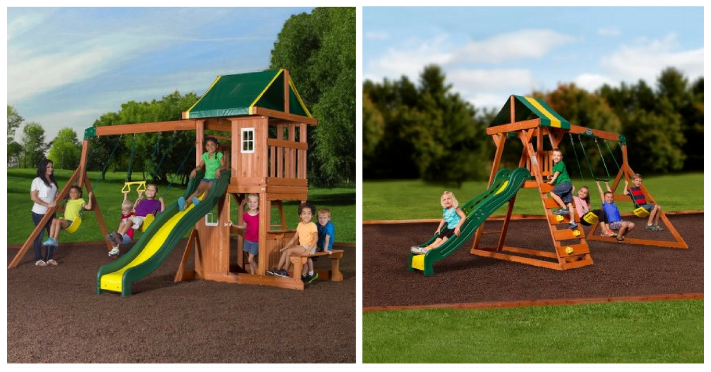 Backyard Discovery Wooden Swing Set As Low As 100 Reg Up To 500
