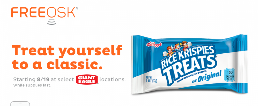 FREE Kellogg's Rice Krispies Treats Sample