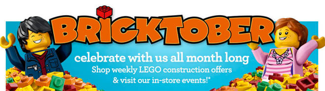 ToysRUs: FREE LEGO Events in October!