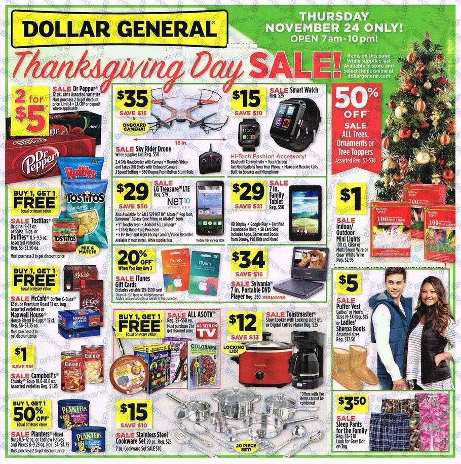 Dollar General Black Friday Ad 2016 is LIVE!