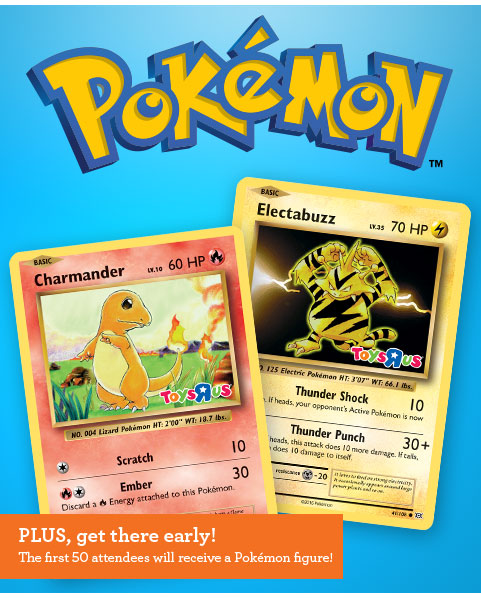ToysRUs: FREE Pokemon Trade & Collect Event (10/30 & 11/20)!