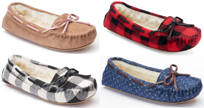 SO Moccasin Slippers Only $11.99 at