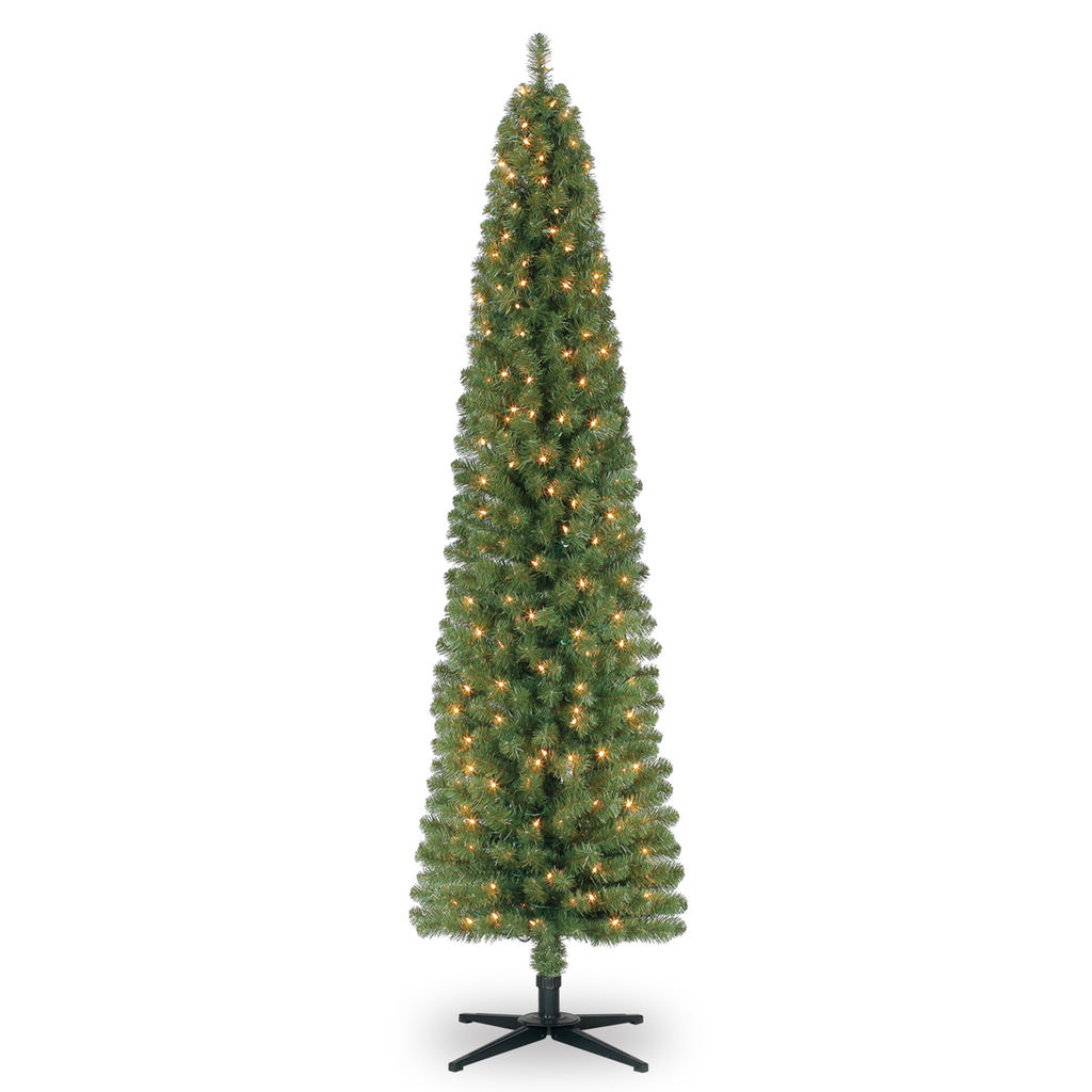 7 ft pre lit pencil artificial christmas tree only shipped reg 100 more at michaels. Black Bedroom Furniture Sets. Home Design Ideas