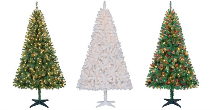 Holiday Time Pre-Lit 6.5′ Artificial Christmas Trees Only $39