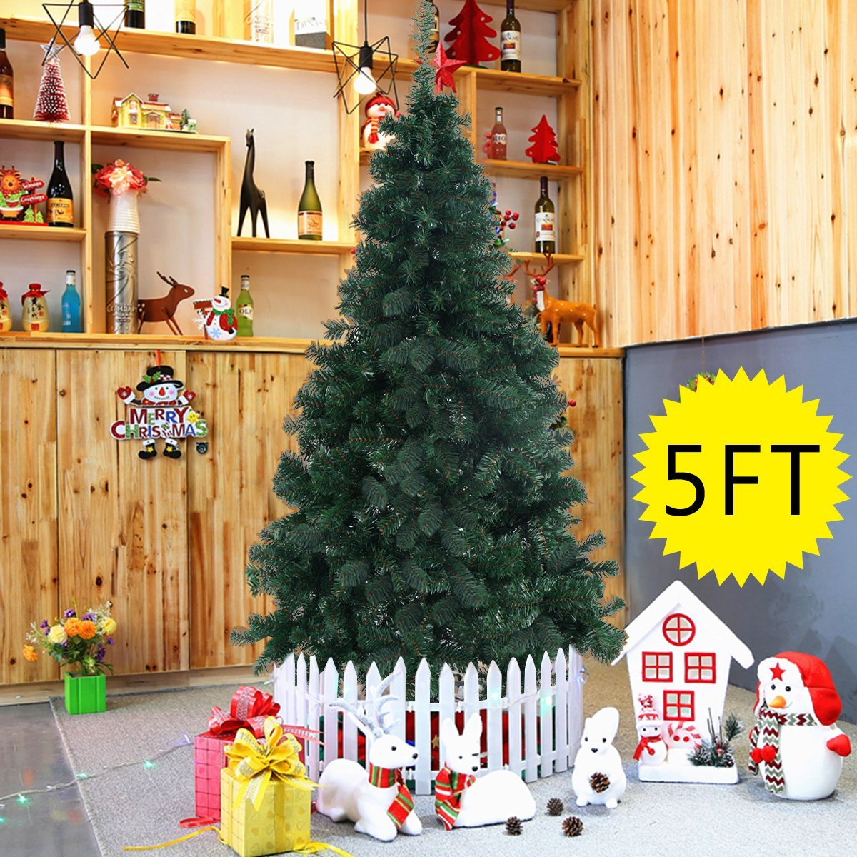 Hot christmas tree w stand 5 feet only 18 99 free shipping