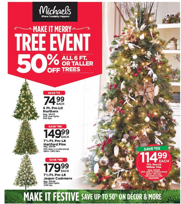 Michaels Christmas.Michaels 50 Off Christmas Trees