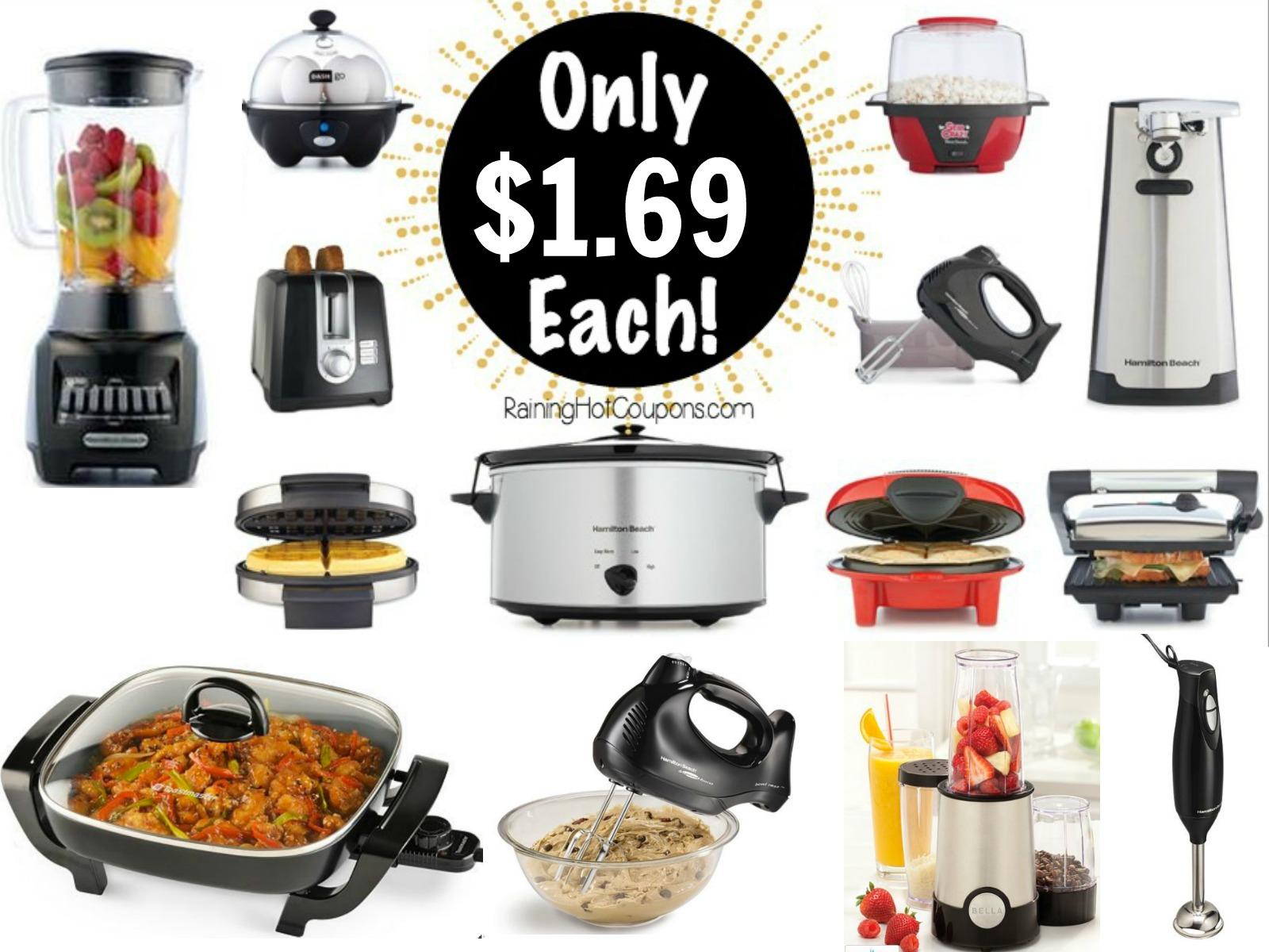 hot* kohl's: 6 kitchen appliances only $1.69 each ($239.99 value