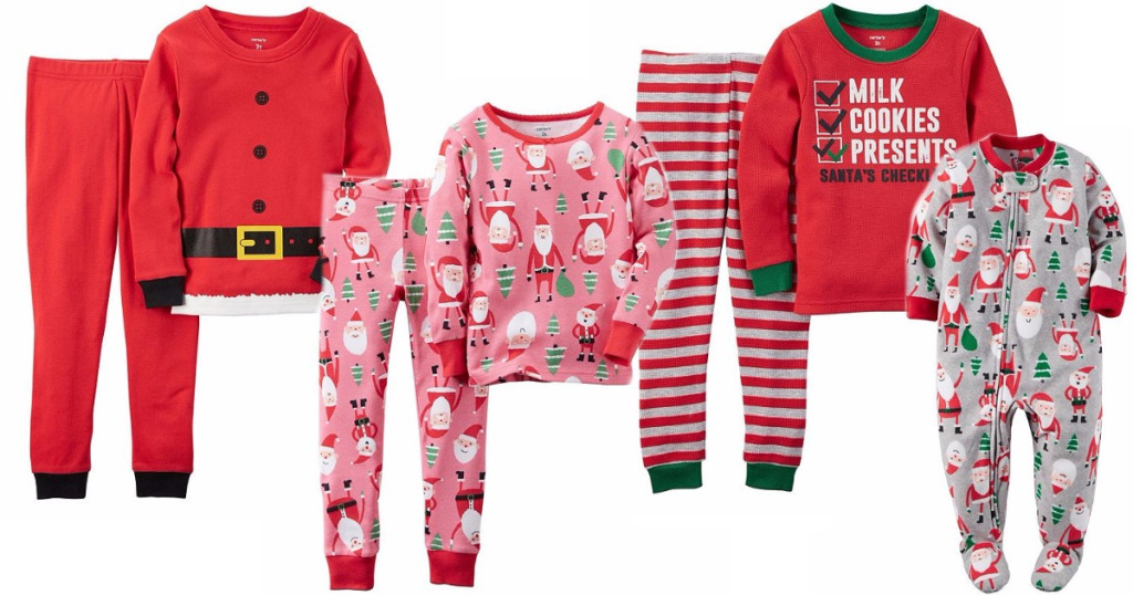 Carter\'s Kids\' and Infant Christmas Pajamas As Low As $8 at BonTon
