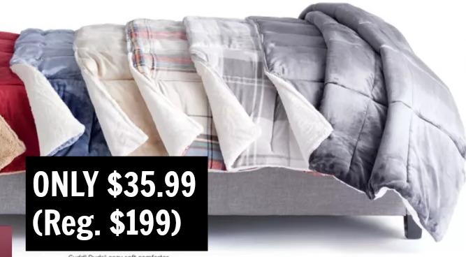 kohl's: *hot* cuddl duds cozy soft comforter – all sizes only