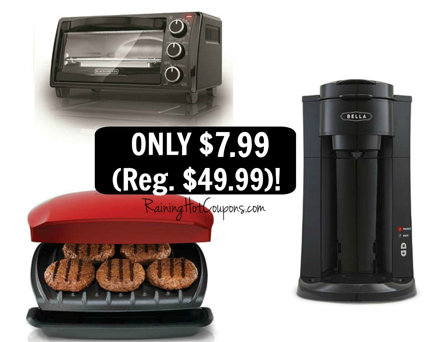 Kohl s: *HOT* George Foreman Grill, Toaster Oven AND Coffee Maker ONLY USD 1.99 each (Reg. USD 49.99)!