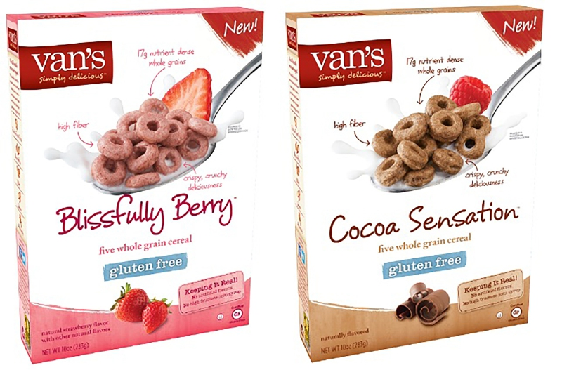 Van's Simply Delicious Blissfully Berry and Cocoa Sensation Cereals (PRNewsFoto/Van's International Foods)
