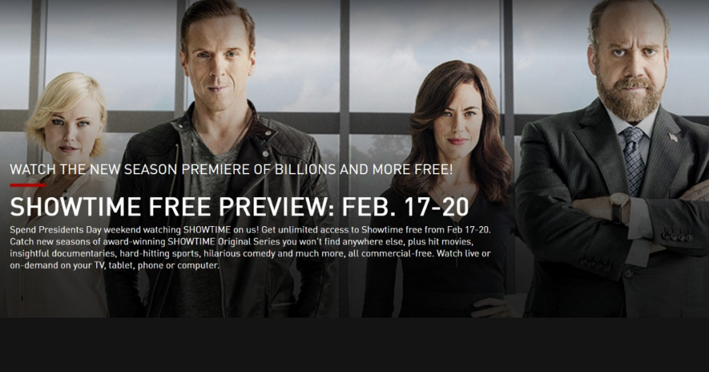 Free Showtime Preview President S Day Weekend