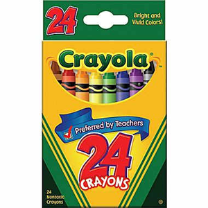 crayola crayons 24 count pack