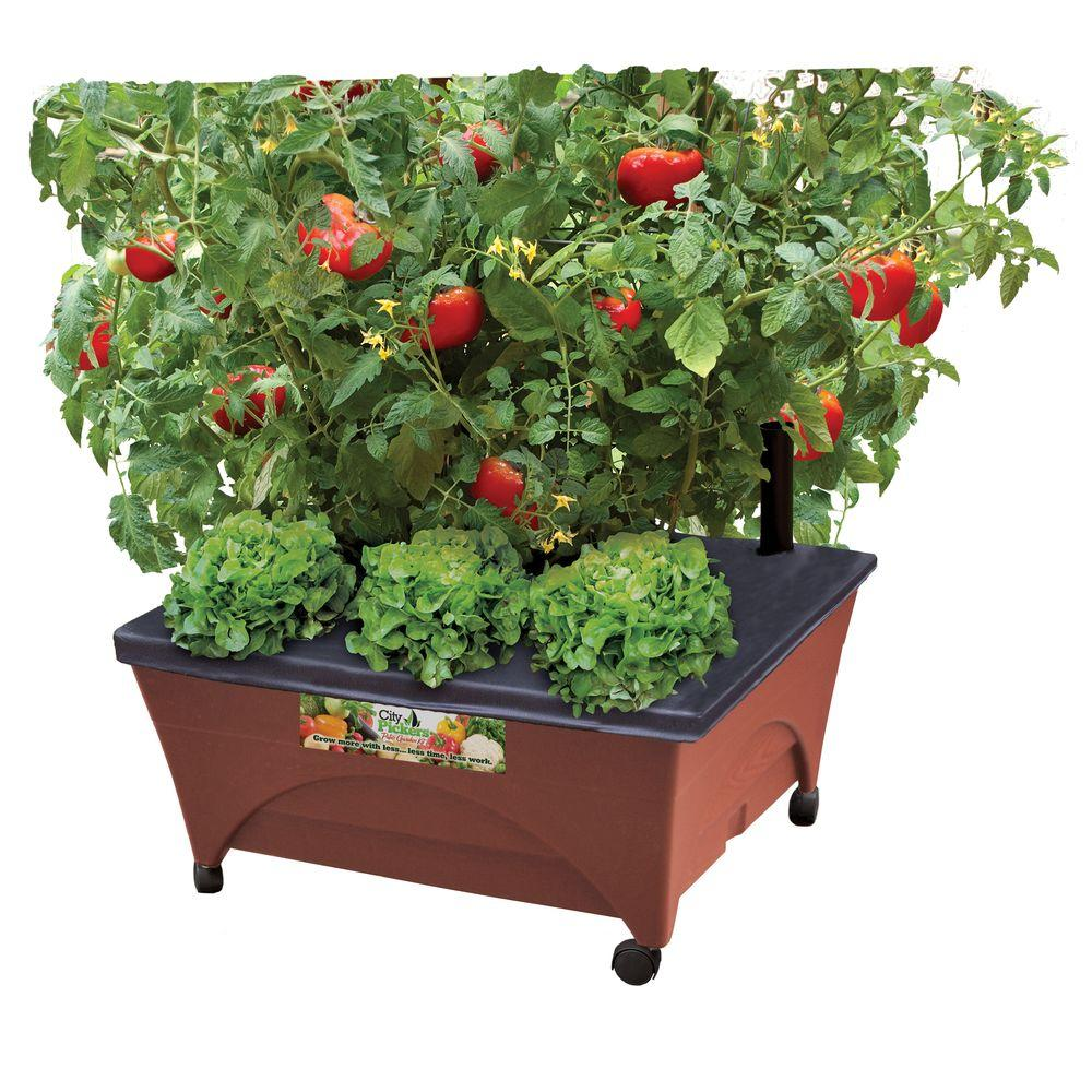 home depot patio raised garden bed grow kit with watering system and casters only 1998 reg 29 - Home Depot Raised Garden
