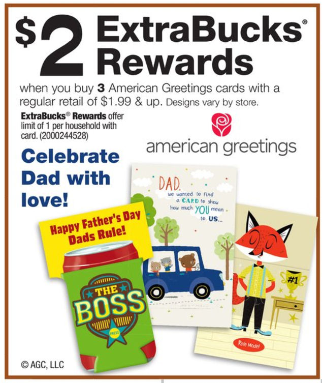Cvs american greetings cards only 066 if you are need of a fathers day card or other special occasion greeting cards you will not want to miss this great deal right now you can get american m4hsunfo