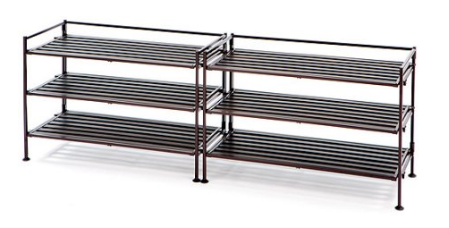 Seville Classics 3 Tier Utility Shoe Rack 2 Pack Only 18