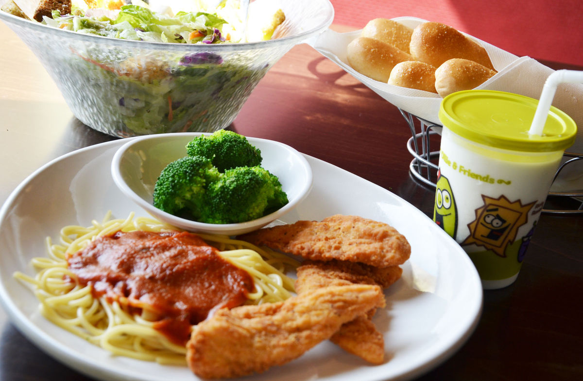 olive garden kids meals for 1 with adult purchase