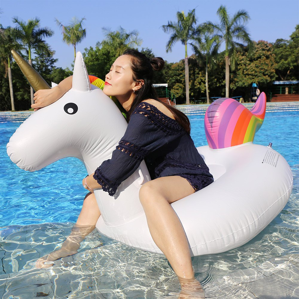 hot inflatable unicorn float for shipped. Black Bedroom Furniture Sets. Home Design Ideas