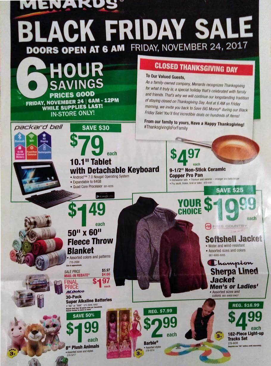 Menards coupons in store