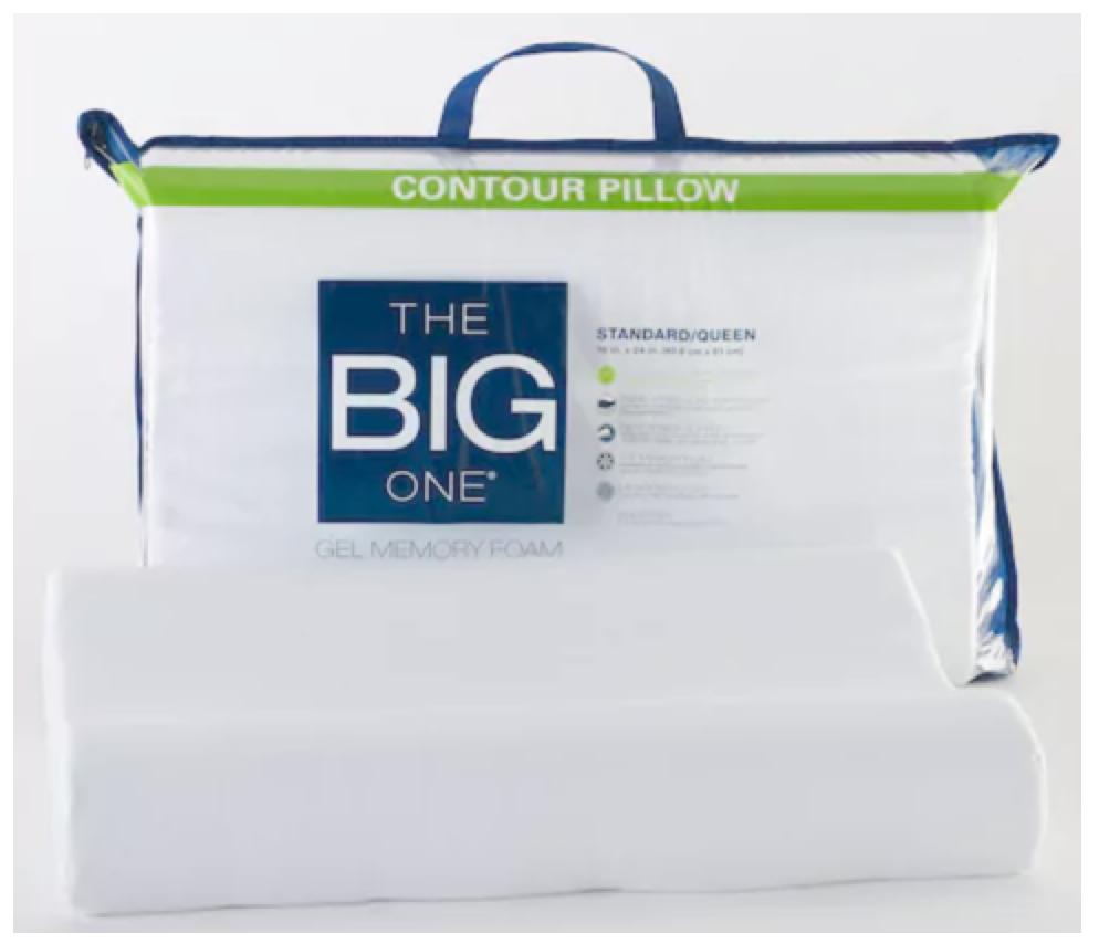 Kohl S Gel Memory Foam Contour Pillow Only 12 74 Reg