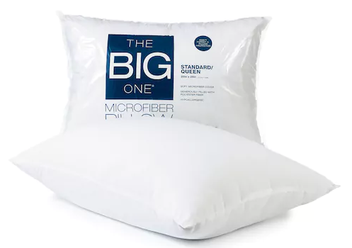 Kohl S The Big One Microfiber Pillow Only 2 54 Reg 12