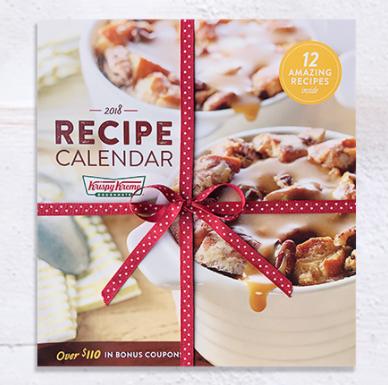 Krispy Kreme Calendar.Krispy Kreme Doughnuts 2018 Calendar Only 8 Includes Recipes Free