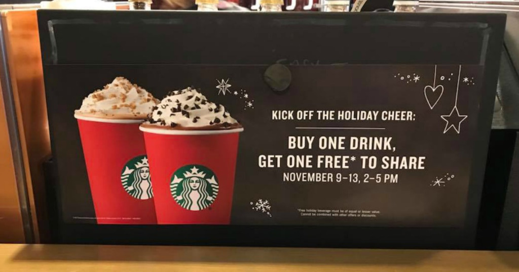 (WFLA) To celebrate the return of Starbucks red holiday cups, customers who buy one holiday beverage and can get another one free. Starbucks will offer .