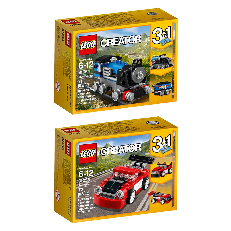 lego creator blue express red racer building kit bundle. Black Bedroom Furniture Sets. Home Design Ideas