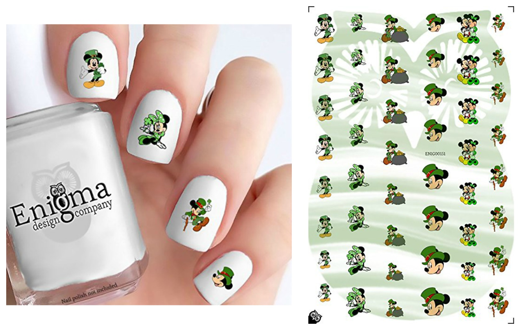 Disney Mickey & Minnie St Patrick\'s Day Nail Decals Only $4.95 Shipped!
