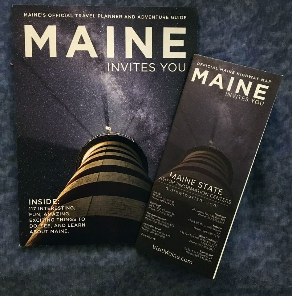 Maine Road Map /& Travel Guide