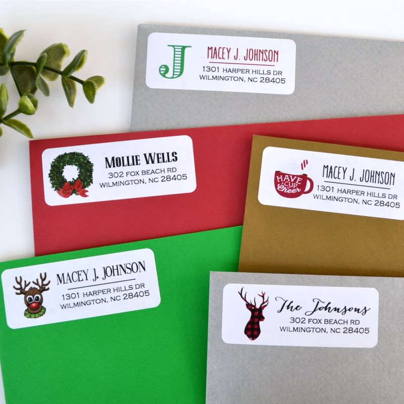 HOT! 90 Christmas Card Labels for $5.99!