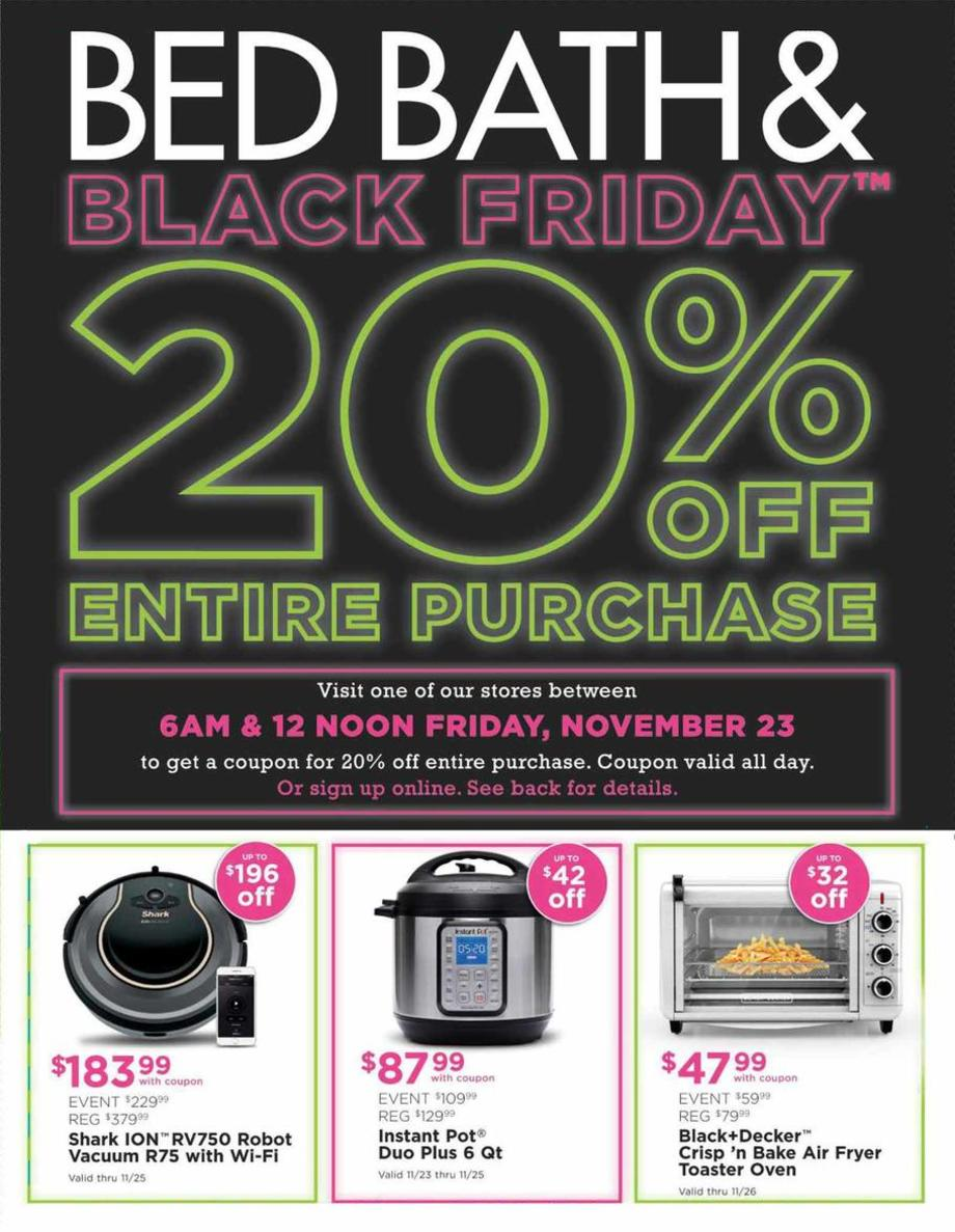 Bed Bath And Beyond Black Friday Ad 2018 Is Available Now