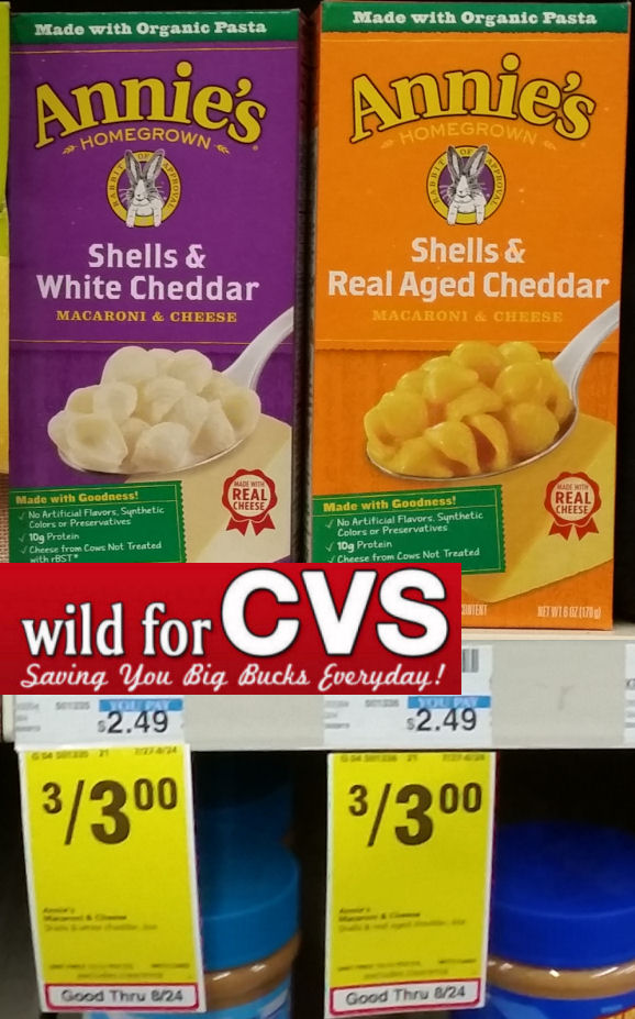 CVS: Annie's Shells & Cheese Only $0 75