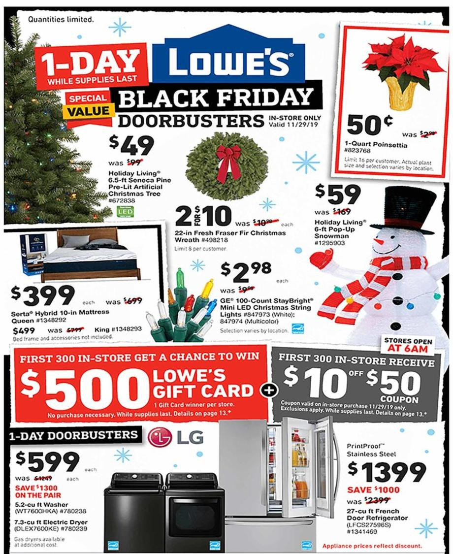 Lowe S Black Friday Ad 2019 Is Available Now